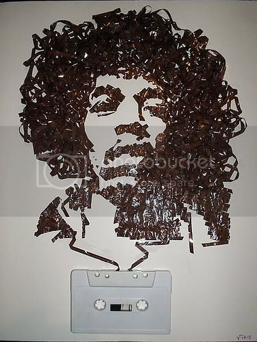 Jimi Hendrix tape portrait